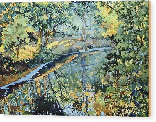 Quiet Stream Near Milk House Wood Print
