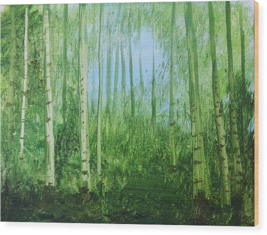 Quiet Stroll Wood Print by Trilby Cole