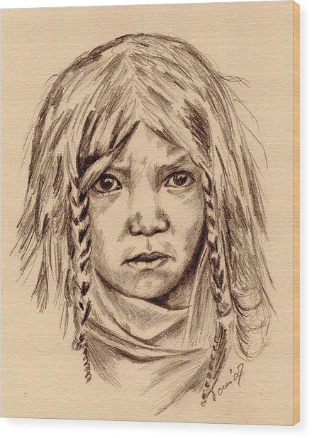 Quilcene Boy Wood Print