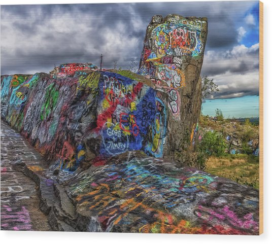 Quincy Quarries Graffiti Wood Print