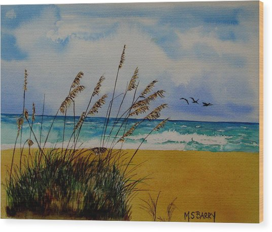 Quintessential Florida Wood Print by Maria Barry