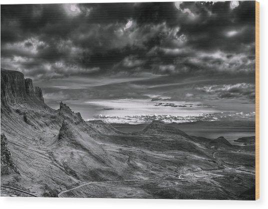 Quiraing On Isle Of Skye Scotland Wood Print