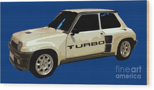 R Turbo Art Wood Print