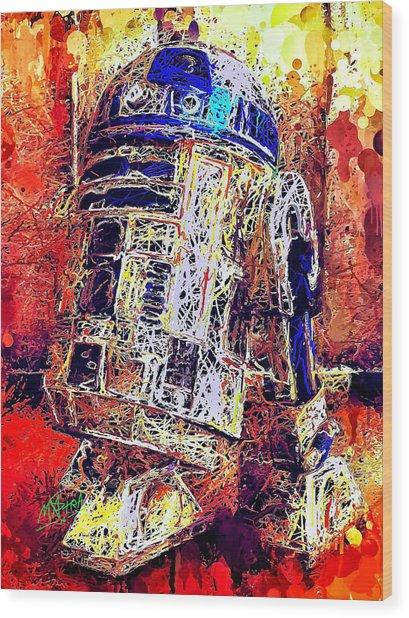 R2 - D2 Wood Print