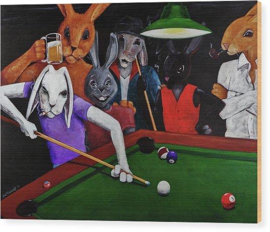 Rabbit Games Wood Print