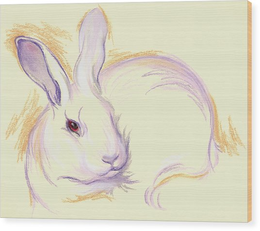 Rabbit With A Red Eye Wood Print