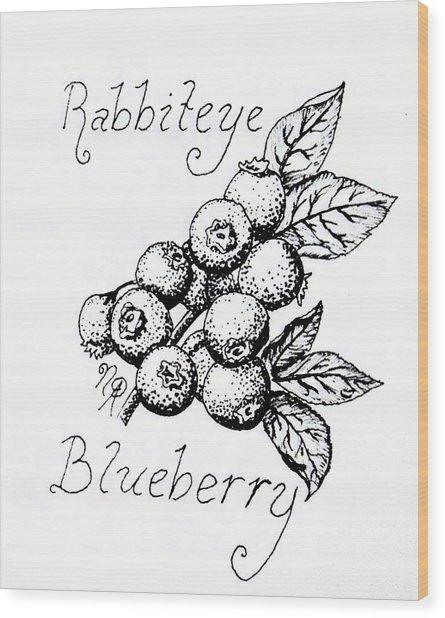 Rabbiteye Blueberry Wood Print