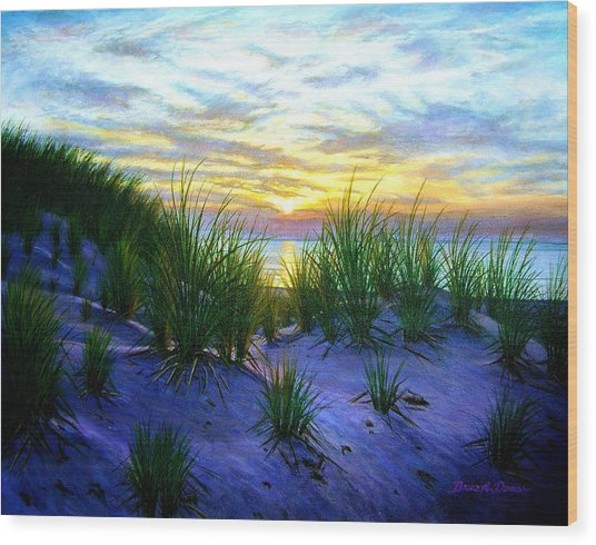 Race Point Dune Sunset Wood Print by Bruce Dumas