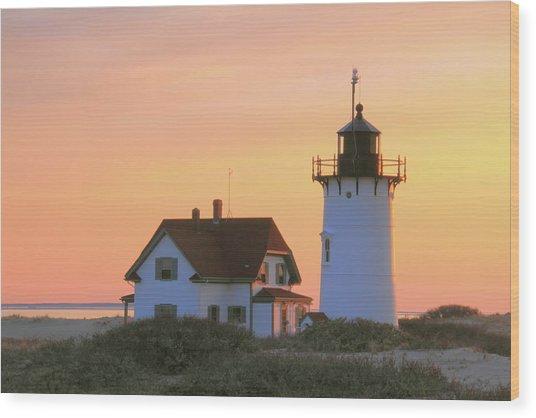 Race Point Light Wood Print
