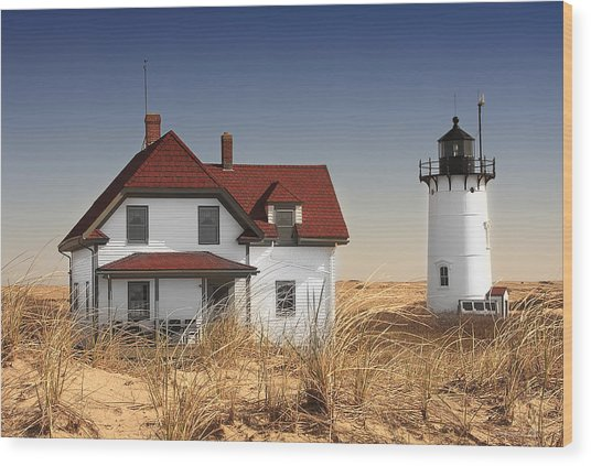 Race Point Lighthouse Cape Cod Wood Print by Dapixara Art