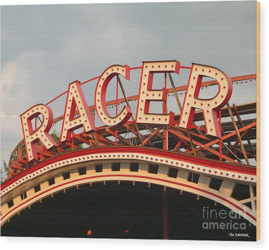 Racer Coaster Kennywood Park Wood Print