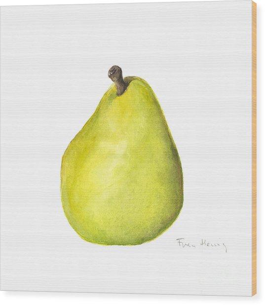 Rachel's Pear Wood Print by Fran Henig