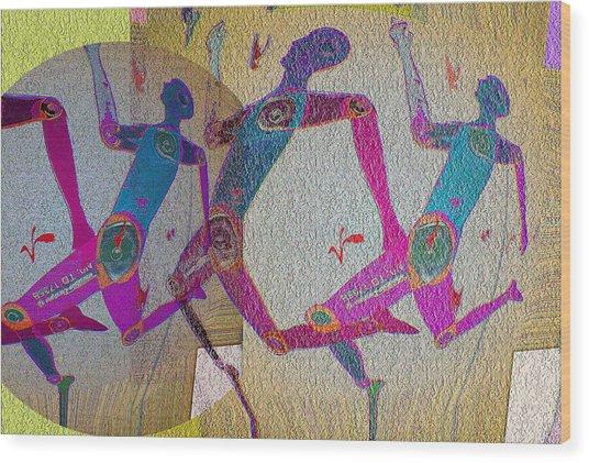Racing Wood Print by Noredin Morgan