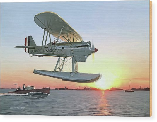 Racing The Sun Wood Print