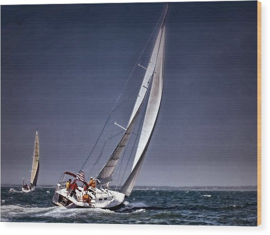 Racing To Nantucket Wood Print