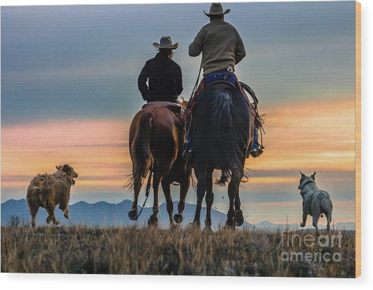 Racing To The Sun Wild West Photography Art By Kaylyn Franks Wood Print