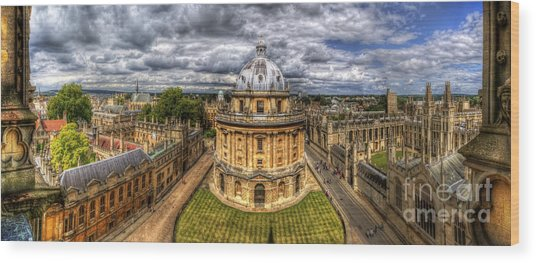 Radcliffe Camera Panorama Wood Print