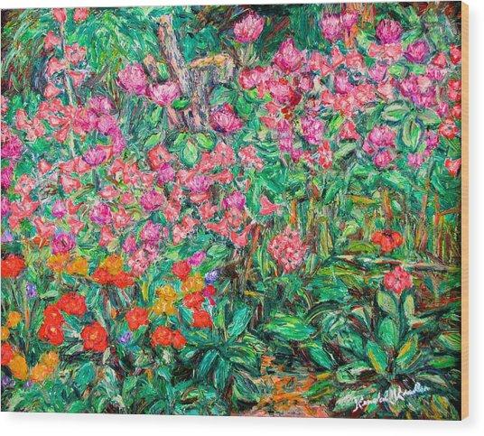 Radford Flower Garden Wood Print