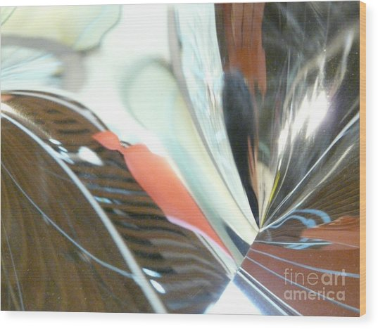 Radial Reflection 2 Wood Print by Donna McLarty
