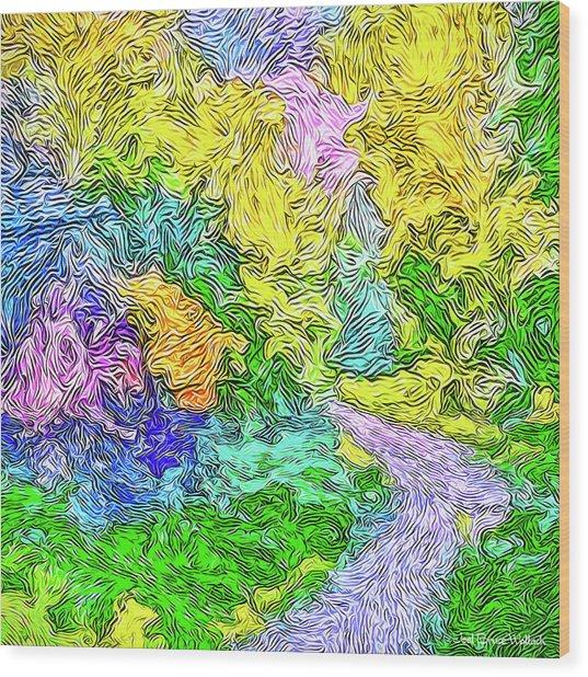 Radiant Garden Pathway - Trail Through Santa Monica Mountains Wood Print