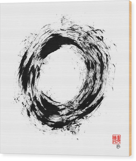 Radiant Light Enso Wood Print