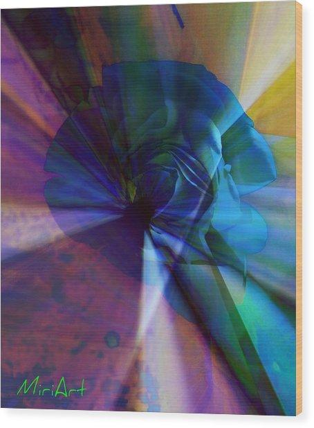 Radiating Light Wood Print