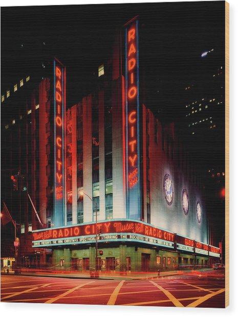 Radio City Music Hall 1990s Wood Print
