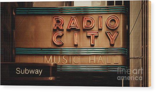 Radio City Music Hall Rockefeller Center Midtown Manhatten New York City Painterly 20170917 Long Wood Print
