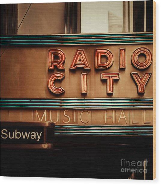 Radio City Music Hall Rockefeller Center Midtown Manhatten New York City Painterly 20170917 Square Wood Print