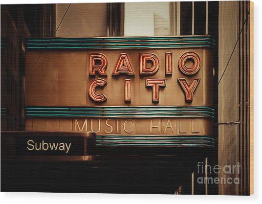 Radio City Music Hall Rockefeller Center Midtown Manhatten New York City Painterly 20170917 Wood Print