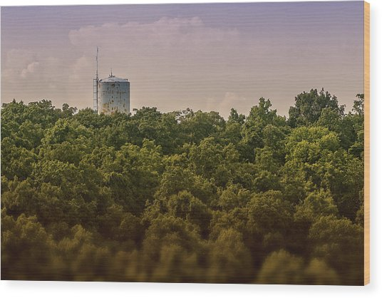 Radioactive Landscape Wood Print