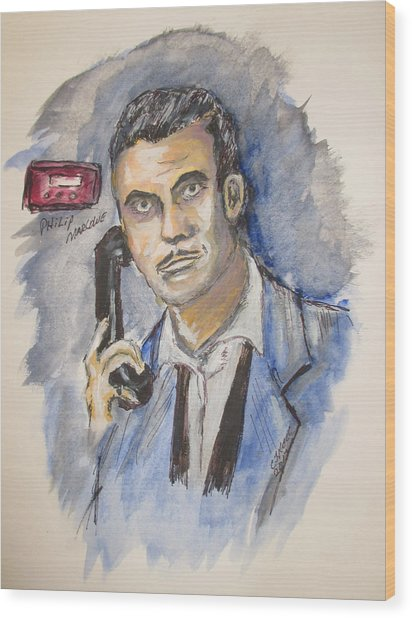 Radio's Philip Marlowe Wood Print
