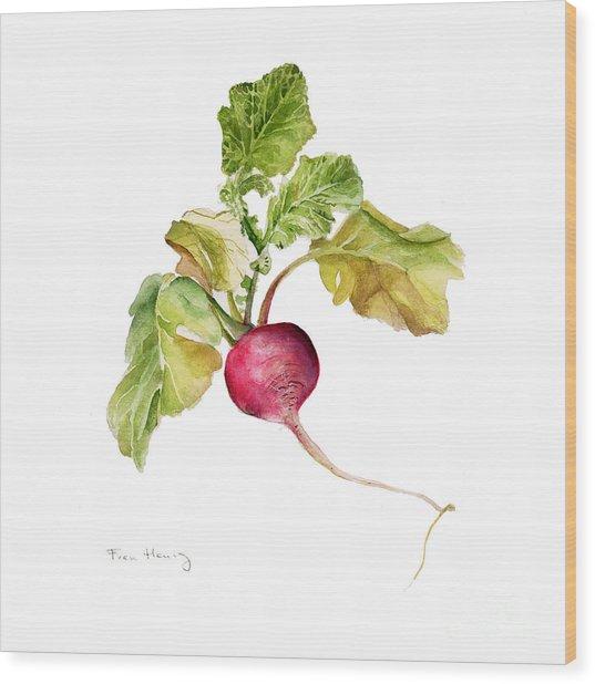 Radish Wood Print by Fran Henig