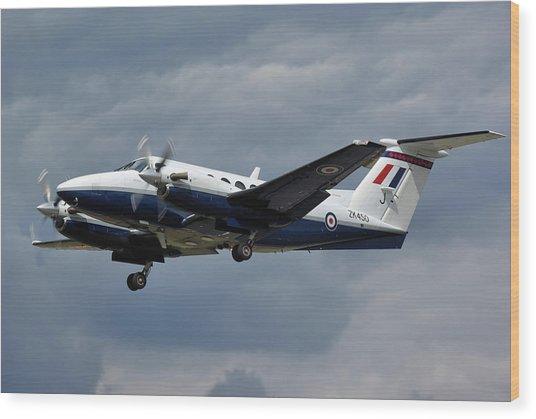 Raf Beech King Air 200  Wood Print