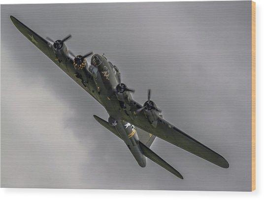 Raf Scampton 2017 - B-17 Flying Fortress Sally B Turning Wood Print