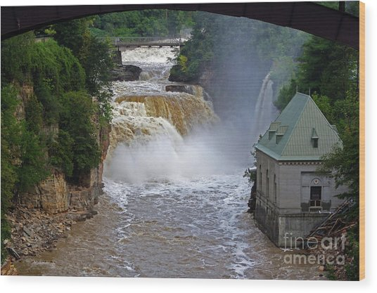 Wood Print featuring the photograph Raging River by Patti Whitten