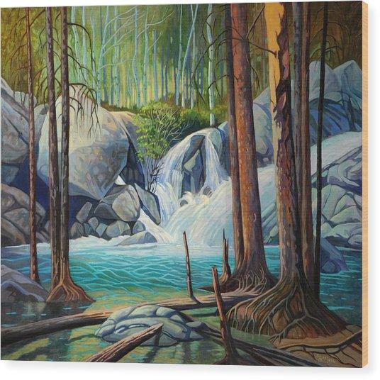 Raging Solitude Wood Print