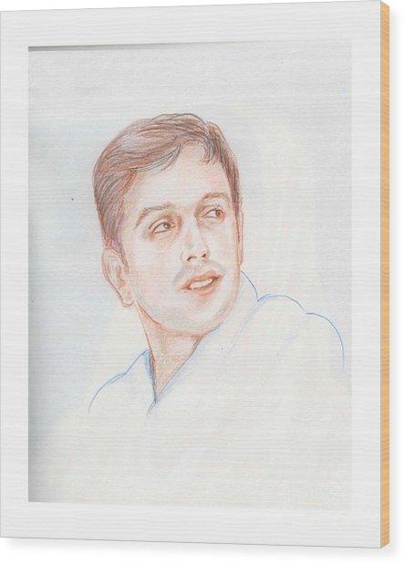 Rahul Dravid  Indian Cricketer Wood Print