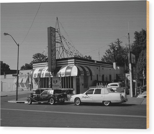 Wood Print featuring the photograph Raifords Disco Memphis A Bw by Mark Czerniec