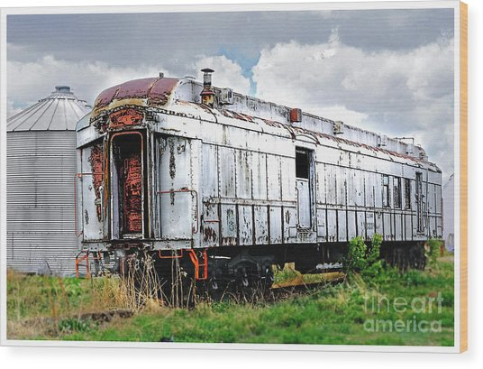 Rail Car Wood Print