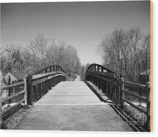 Rail Trail Bridge, Newburyport, Massachusetts Wood Print