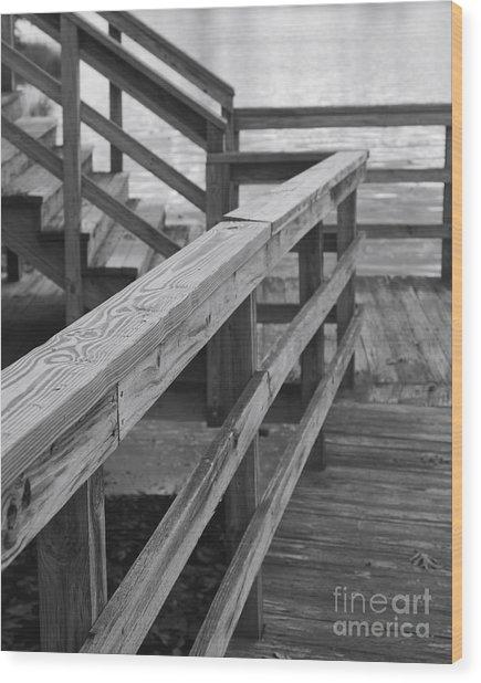 Railings Wood Print by Hideaki Sakurai