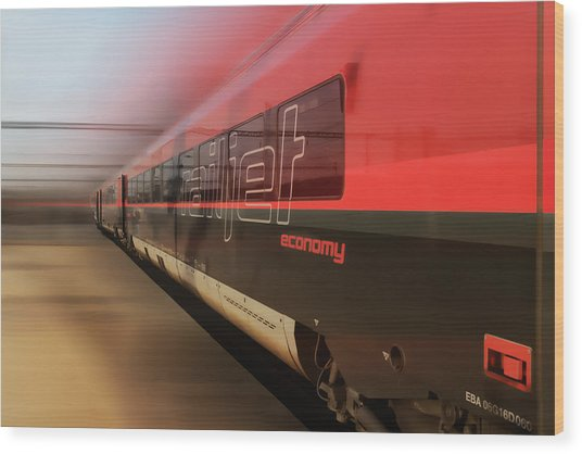 Railjet High Speed Train Wood Print