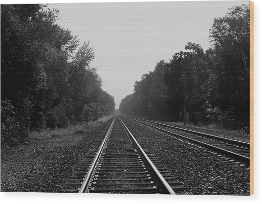 Railroad To Nowhere Wood Print