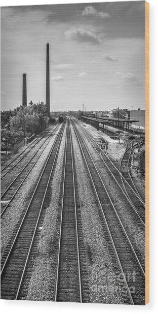 Rails Through Birmingham Wood Print