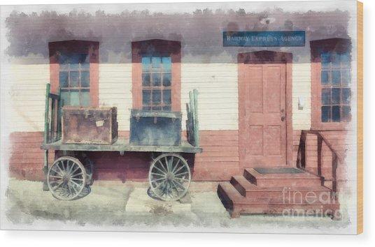 Railway Agency Express Wood Print