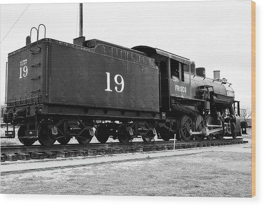 Railway Engine In Frisco Wood Print