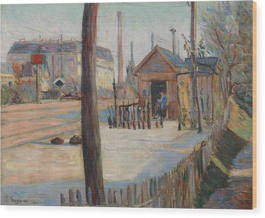 Railway Junction Near Bois-colombes  Wood Print