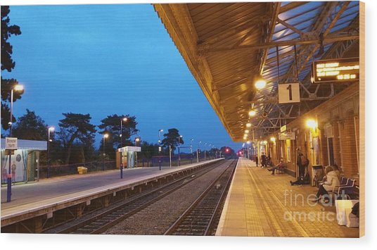 Wood Print featuring the photograph Railway Vanishing Point by Jeremy Hayden