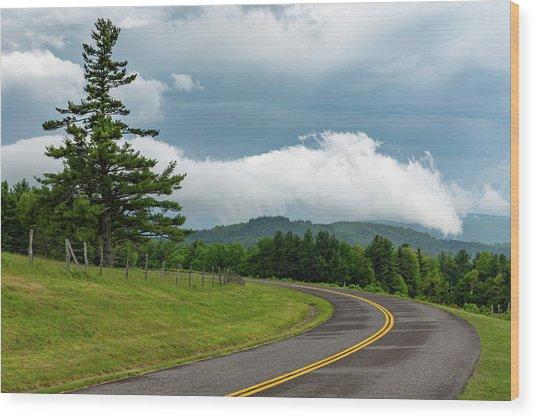Rain Ahead Wood Print by Jim Neal